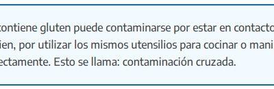 Contaminación cruzada: ¿Qué es y porqué es tan importante en la alimentación de las personas celíacas?
